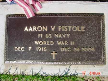PISTOLE  (VETERAN WWII), AARON V. - Van Buren County, Arkansas | AARON V. PISTOLE  (VETERAN WWII) - Arkansas Gravestone Photos