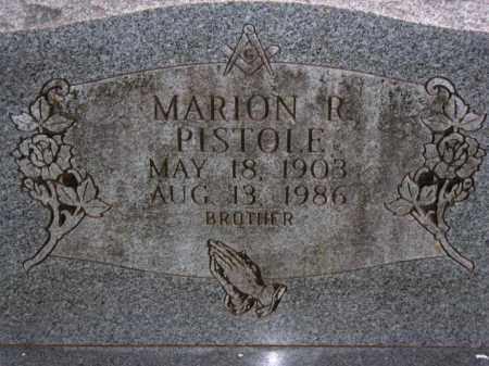 PISTOLE, MARION R. - Van Buren County, Arkansas   MARION R. PISTOLE - Arkansas Gravestone Photos