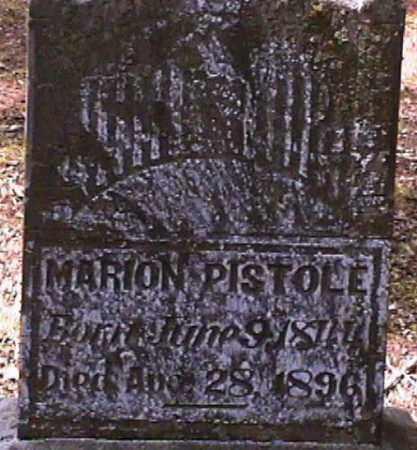 PISTOLE, MARION - Van Buren County, Arkansas   MARION PISTOLE - Arkansas Gravestone Photos