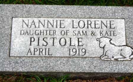 PISTOLE, NANNIE LORENE - Van Buren County, Arkansas | NANNIE LORENE PISTOLE - Arkansas Gravestone Photos