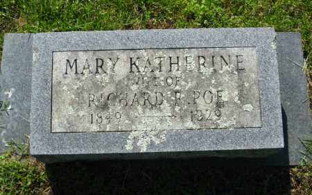 POE, MARY KATHERINE - Van Buren County, Arkansas | MARY KATHERINE POE - Arkansas Gravestone Photos