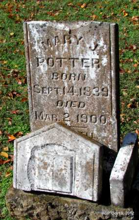 POTTER, MARY J - Van Buren County, Arkansas | MARY J POTTER - Arkansas Gravestone Photos