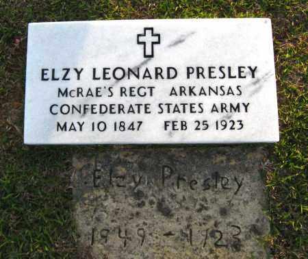 PRESLEY  (VETERAN CSA), ELZY LEONARD - Van Buren County, Arkansas | ELZY LEONARD PRESLEY  (VETERAN CSA) - Arkansas Gravestone Photos