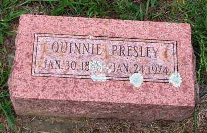 PRESLEY, QUINNIE - Van Buren County, Arkansas | QUINNIE PRESLEY - Arkansas Gravestone Photos