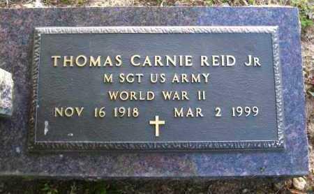 REID, JR  (VETERAN WWII), THOMAS CARNIE - Van Buren County, Arkansas   THOMAS CARNIE REID, JR  (VETERAN WWII) - Arkansas Gravestone Photos
