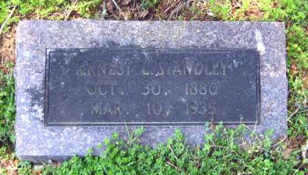 STANDLEY, ERNEST L - Van Buren County, Arkansas   ERNEST L STANDLEY - Arkansas Gravestone Photos