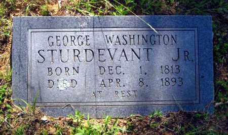 STURDEVANT, JR, GEORGE WASHINGTON - Van Buren County, Arkansas   GEORGE WASHINGTON STURDEVANT, JR - Arkansas Gravestone Photos