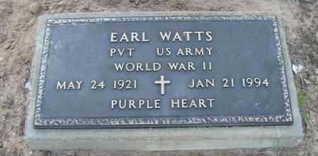 WATTS (VETERAN WWII), EARL - Van Buren County, Arkansas | EARL WATTS (VETERAN WWII) - Arkansas Gravestone Photos