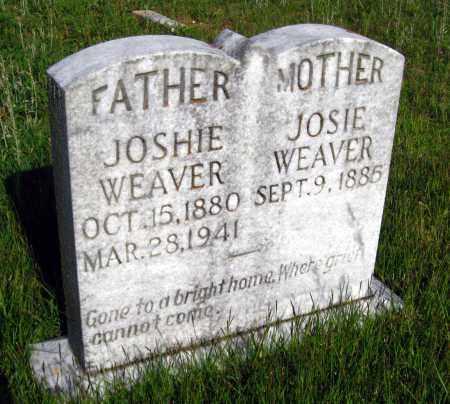 WEAVER, JOSHIE - Van Buren County, Arkansas   JOSHIE WEAVER - Arkansas Gravestone Photos