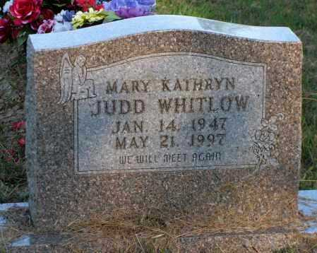 JUDD WHITLOW, MARY KATHRYN - Van Buren County, Arkansas | MARY KATHRYN JUDD WHITLOW - Arkansas Gravestone Photos