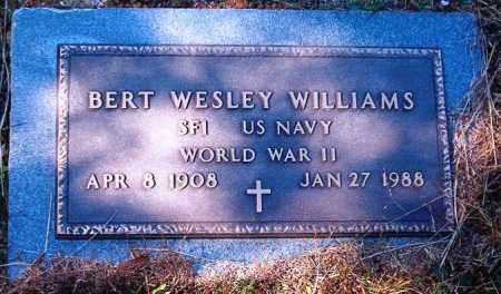 WILLIAMS  (VETERAN WWII), BERT WESLEY - Van Buren County, Arkansas | BERT WESLEY WILLIAMS  (VETERAN WWII) - Arkansas Gravestone Photos