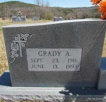 WILLIAMS, GRADY A (CLOSE UP) - Van Buren County, Arkansas | GRADY A (CLOSE UP) WILLIAMS - Arkansas Gravestone Photos