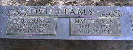 WILLIAMS, MARTHA ANN - Van Buren County, Arkansas | MARTHA ANN WILLIAMS - Arkansas Gravestone Photos