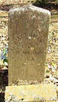 WILLIAMS (VETERAN CSA), RILEY - Van Buren County, Arkansas | RILEY WILLIAMS (VETERAN CSA) - Arkansas Gravestone Photos