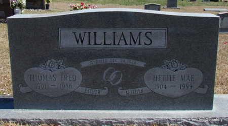 WILLIAMS, HETTIE MAE - Van Buren County, Arkansas   HETTIE MAE WILLIAMS - Arkansas Gravestone Photos