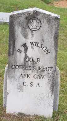 WILSON (VETERAN CSA), R  W - Van Buren County, Arkansas | R  W WILSON (VETERAN CSA) - Arkansas Gravestone Photos
