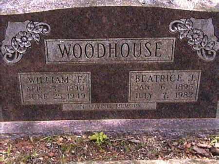 WOODHOUSE, BEATRICE J. - Van Buren County, Arkansas   BEATRICE J. WOODHOUSE - Arkansas Gravestone Photos