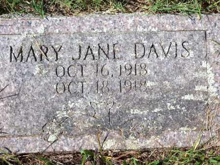 DAVIS, MARY JANE - Washington County, Arkansas   MARY JANE DAVIS - Arkansas Gravestone Photos