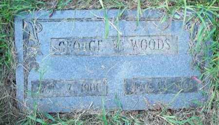 WOODS, GEORGE W - Washington County, Arkansas | GEORGE W WOODS - Arkansas Gravestone Photos