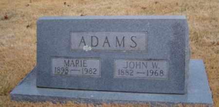 ADAMS, JOHN W. - Washington County, Arkansas | JOHN W. ADAMS - Arkansas Gravestone Photos