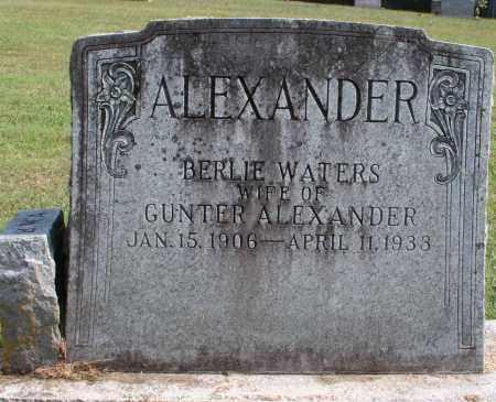 ALEXANDER, BERLIE - Washington County, Arkansas | BERLIE ALEXANDER - Arkansas Gravestone Photos