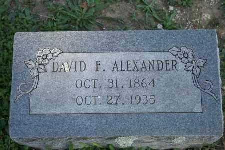 ALEXANDER, DAVID F. - Washington County, Arkansas | DAVID F. ALEXANDER - Arkansas Gravestone Photos