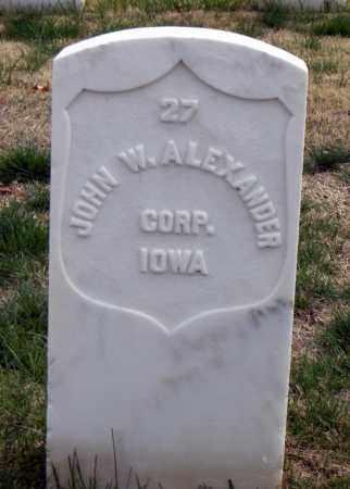 ALEXANDER (VETERAN UNION), JOHN W. - Washington County, Arkansas | JOHN W. ALEXANDER (VETERAN UNION) - Arkansas Gravestone Photos