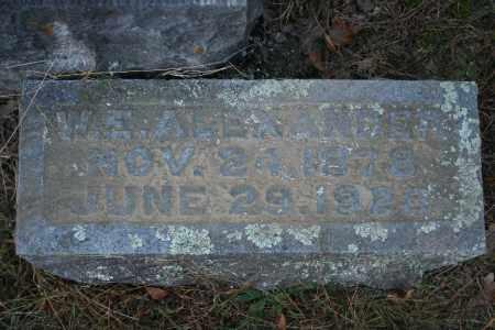 ALEXANDER, W.E. - Washington County, Arkansas   W.E. ALEXANDER - Arkansas Gravestone Photos