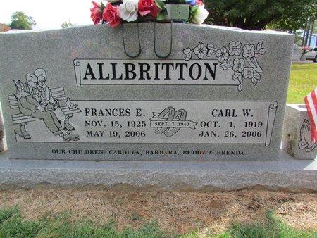 ALLBRITTON, FRANCES ELIZABETH - Washington County, Arkansas   FRANCES ELIZABETH ALLBRITTON - Arkansas Gravestone Photos