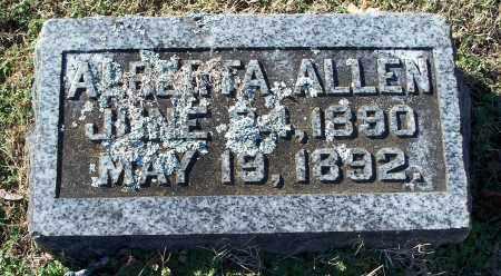 ALLEN, ALBERTA - Washington County, Arkansas | ALBERTA ALLEN - Arkansas Gravestone Photos