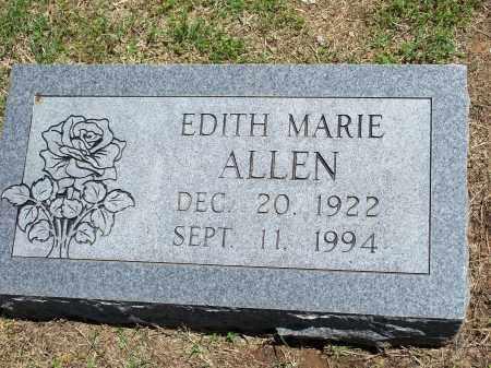 ALLEN, EDITH MARIE - Washington County, Arkansas | EDITH MARIE ALLEN - Arkansas Gravestone Photos