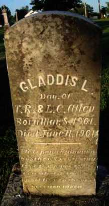 ALLEN, GLADDIS L. - Washington County, Arkansas | GLADDIS L. ALLEN - Arkansas Gravestone Photos