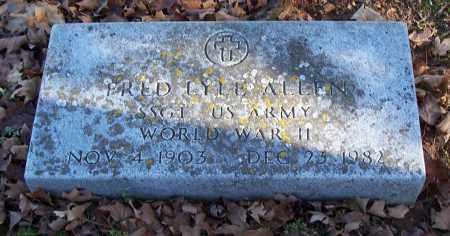 ALLEN (VETERAN WWII), FRED LYLE - Washington County, Arkansas | FRED LYLE ALLEN (VETERAN WWII) - Arkansas Gravestone Photos