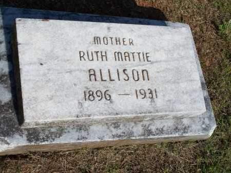 ALLISON, RUTH MATTIE - Washington County, Arkansas | RUTH MATTIE ALLISON - Arkansas Gravestone Photos