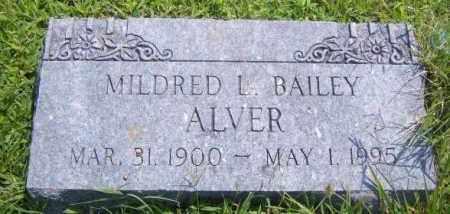 BAILEY ALVER, MILDRED L. - Washington County, Arkansas | MILDRED L. BAILEY ALVER - Arkansas Gravestone Photos