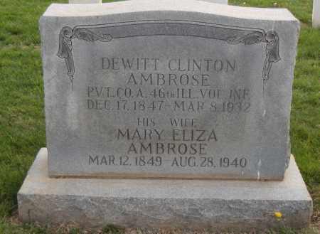 AMBROSE, MARY ELIZA - Washington County, Arkansas | MARY ELIZA AMBROSE - Arkansas Gravestone Photos