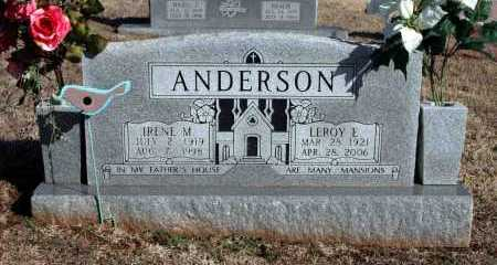 ANDERSON, LEROY E - Washington County, Arkansas | LEROY E ANDERSON - Arkansas Gravestone Photos