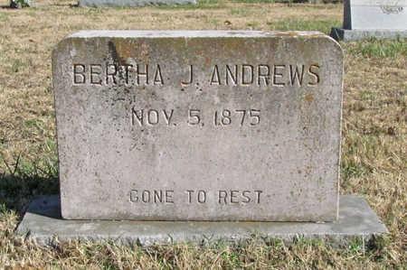 ANDREWS, BERTHA J - Washington County, Arkansas | BERTHA J ANDREWS - Arkansas Gravestone Photos