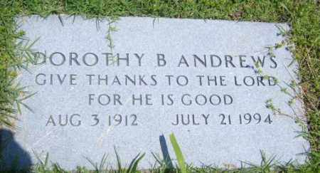 ANDREWS, DOROTHY B. - Washington County, Arkansas | DOROTHY B. ANDREWS - Arkansas Gravestone Photos
