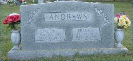 ANDREWS, FRANK C. - Washington County, Arkansas   FRANK C. ANDREWS - Arkansas Gravestone Photos