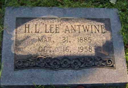 "ANTWINE, H.L. ""LEE"" - Washington County, Arkansas | H.L. ""LEE"" ANTWINE - Arkansas Gravestone Photos"