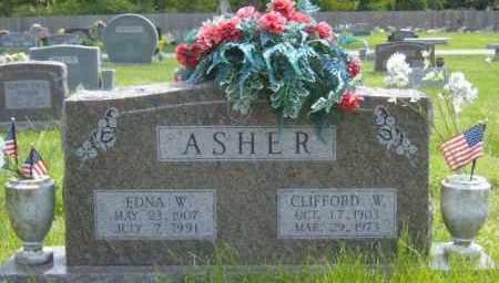 WILSON ASHER, EDNA - Washington County, Arkansas | EDNA WILSON ASHER - Arkansas Gravestone Photos
