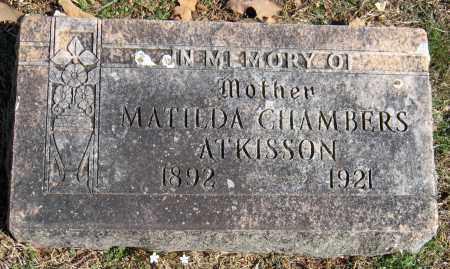 CHAMBERS ATKISSON, MATILDA - Washington County, Arkansas | MATILDA CHAMBERS ATKISSON - Arkansas Gravestone Photos