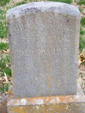 ATWELL, JULIA A. - Washington County, Arkansas   JULIA A. ATWELL - Arkansas Gravestone Photos