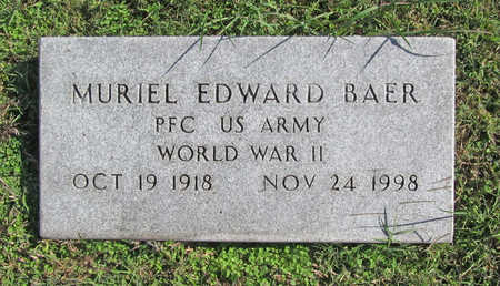 BAER (VETERAN WWII), MURIEL EDWARD - Washington County, Arkansas | MURIEL EDWARD BAER (VETERAN WWII) - Arkansas Gravestone Photos
