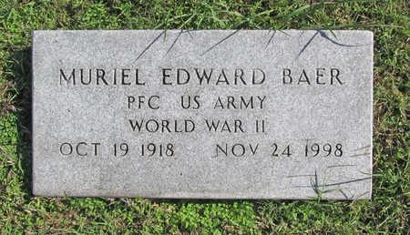 BAER (VETERAN WWII), MURIEL EDWARD - Washington County, Arkansas | MURIEL EDWARD BAER (VETERAN WWII) - Arkansas Gravestone Photos