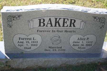 BAKER, FORREST - Washington County, Arkansas | FORREST BAKER - Arkansas Gravestone Photos