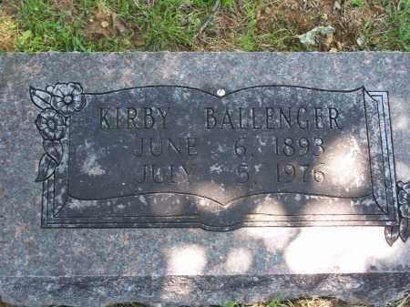 BALLENGER, KIRBY - Washington County, Arkansas   KIRBY BALLENGER - Arkansas Gravestone Photos
