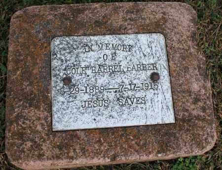 BARBER, COLE HARREL - Washington County, Arkansas | COLE HARREL BARBER - Arkansas Gravestone Photos