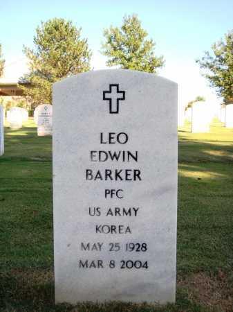 BARKER  (VETERAN KOR), LEO EDWIN - Washington County, Arkansas   LEO EDWIN BARKER  (VETERAN KOR) - Arkansas Gravestone Photos